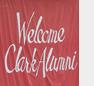 Welcome Clark alumni banner