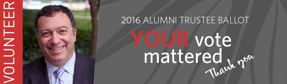 Lee Plave - Alumni Trustee Candidate